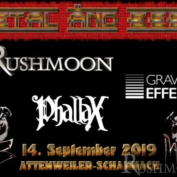 +++ RUSHMOON live bei Metal and Beer am Samstag, den 14.09.19 +++